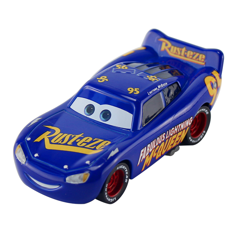 Disney Pixar Cars 2 3 New Fabulous Lighting McQueen Jackson Storm Cruz Ramirez Metal Alloy Car Model Kid Christmas Toy Best Gift