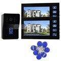 DIYSECUR RFID Reader Camera 7 Inch Video Door Phone Intercom Doorbell Home Security Touch Camera Monitor SY806MJID12