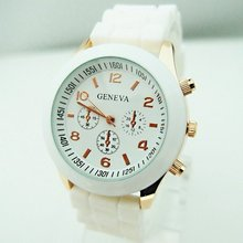 Free Shipping sports brand wrist silicone watch women men fashion analog quartz jelly watch B27G3