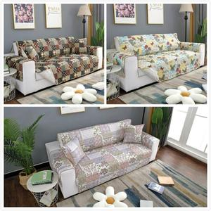 Image 1 - Flower Design Print Anti Slip Quilted Sofa Cover Throw Pet Dog Kids Mat Furniture Washable Removable Protector 1/2/3 Seat L603