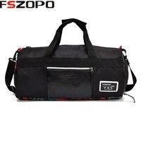 Men Classic Soft Leather Fitness Gym Bag Black Sport Bag for women Designer Single Shoulder Travel Bag