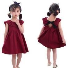 summer girls dress 2018 design girls children clothing European and American style flower kids baby girls short-sleeved dress цена 2017