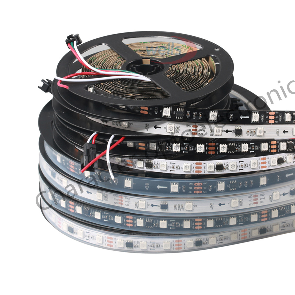 WS2812B 5050 RGB LED 5 M 150 300 Leds 144 30LED M Individual direccionable 5 V in LED Chips from Lights Lighting