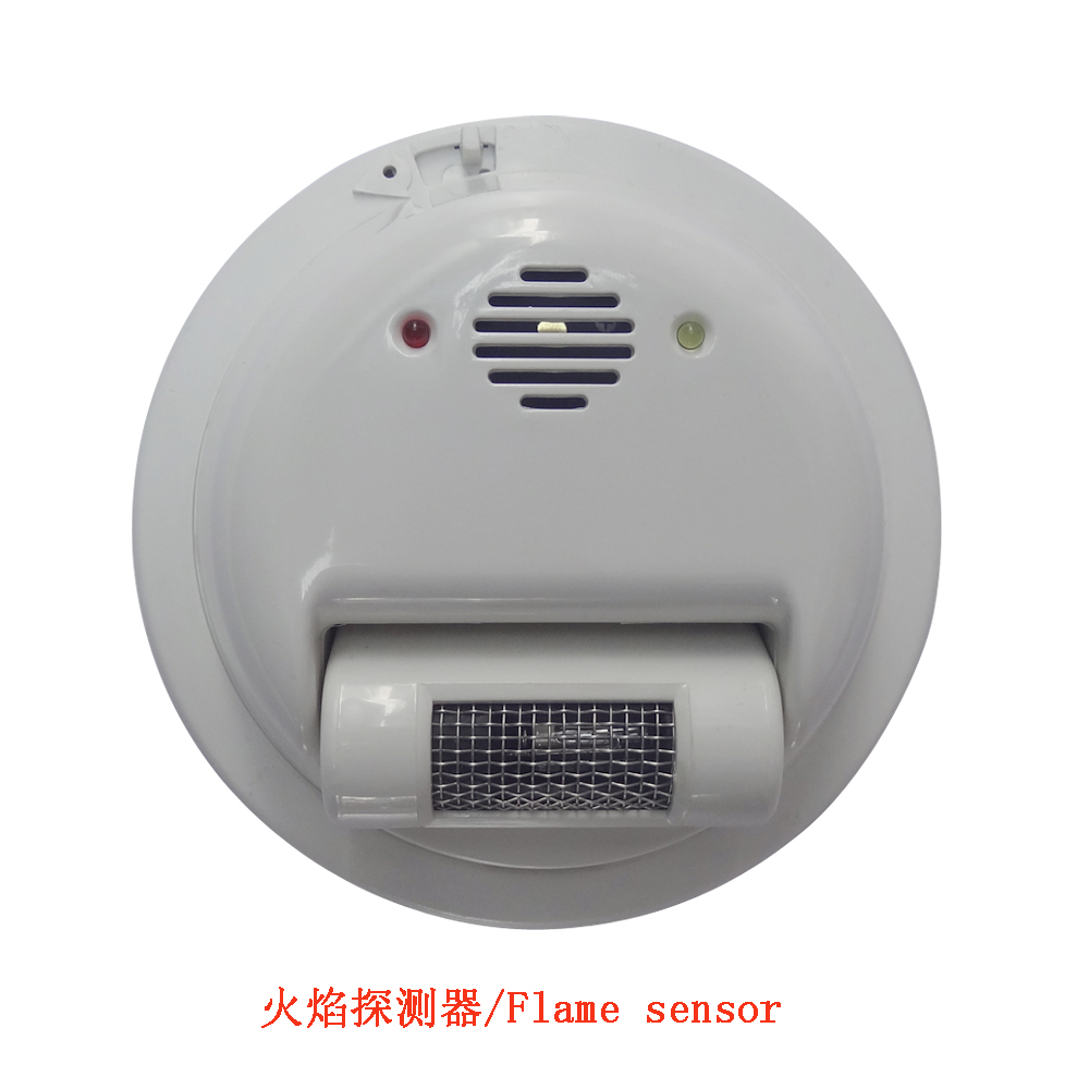 2000E Filo sensore di Allarme Antincendio rilevatore di Fiamma Rivelatore di raggi Ultravioletti protezione di sicurezza Domestica NC/NO uscita relè di segnale