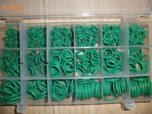HARBLL O ring rubber seal 530pcs green rubber seal R134a automotive air conditioning compressor sets