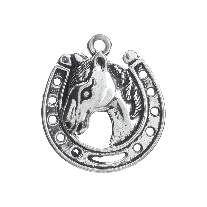 Lucky Eye Horseshoe Charms Silver Alloy Pendant Diy Jewelry Accessories Necklace Bracelet Earrings Ey4111