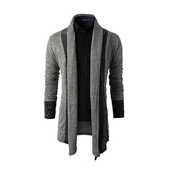 Mens Thick Wool Cardigan Men's High end Fashion Personality ...