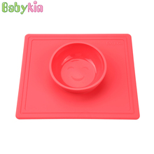 Babykin Super Suction Medical Grade Silicone Kid Children Tableware Bowl for Baby Infant Feeding BPA Free Safety Steady
