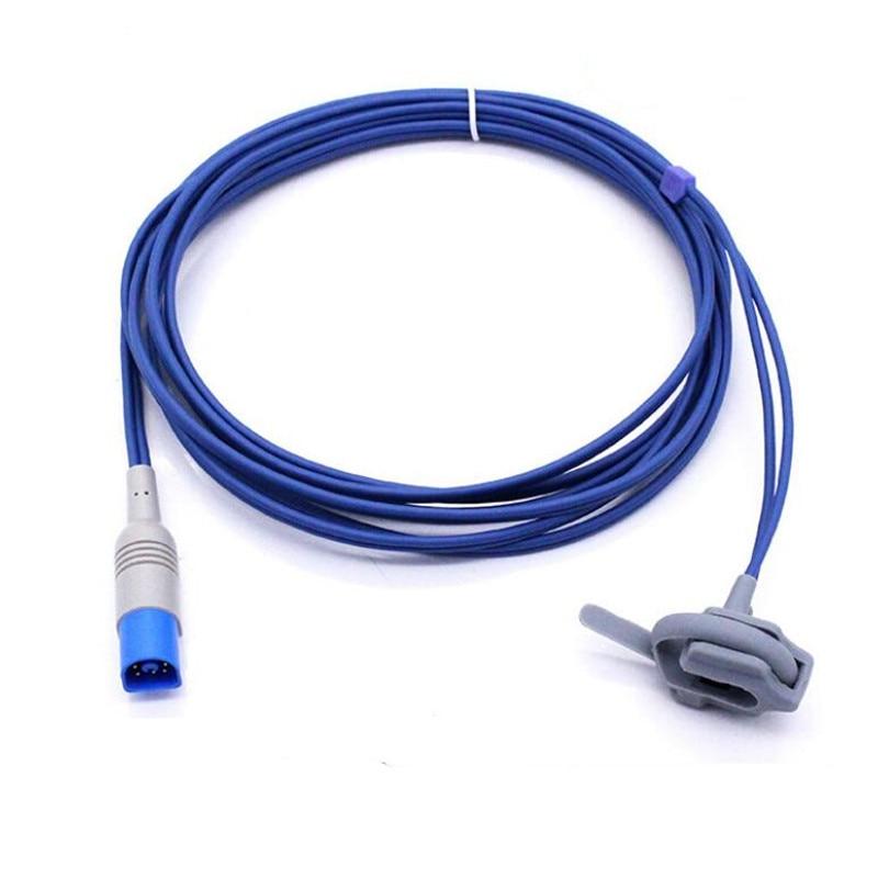 Compatible For Philips/HP M1941A 8PIN Infant/Neonate Wrapped Spo2 Sensor Pulse Oximeter Probe MP20/30/40 Oxygen Sensor 3M/9ft