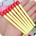 1 Unidades de Corea Papelería Lindo Mini matchstick Bolígrafo Oficina de la Escuela de Publicidad Creativa Doblada Bolígrafos