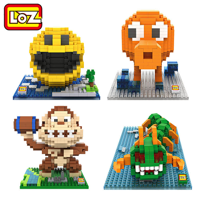 Blocks Analytical Loz Blocks Pixels Building Blocks Pacman Pac Man Orangutan Octopus Chilopod Bricks Figure Assemblage Blocks Set Toys 9617-9620 Attractive Designs;