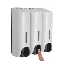 350ml Liquid Soap Dispenser Wall Sanitizer Shampoo Dispensers Hand For Sink Bathroom Washroom Hotel Shower Kitchen Soap Bottle