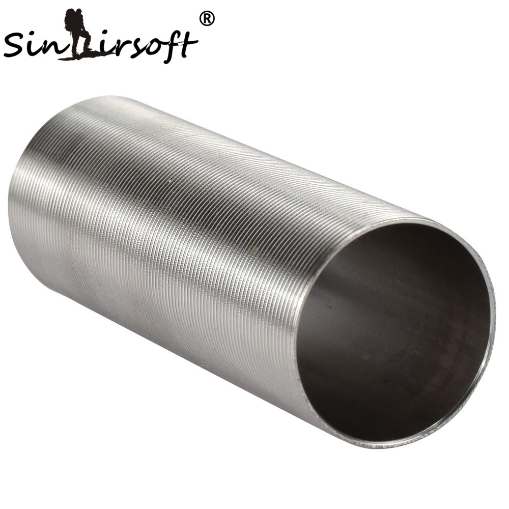 SINAIRSOFT Stainless Steel Cylinder Type-1 Inner Barrel Length 455 - 509 Airsoft AEG Smooth Inner Wall, Full Flow,length=72.2mm