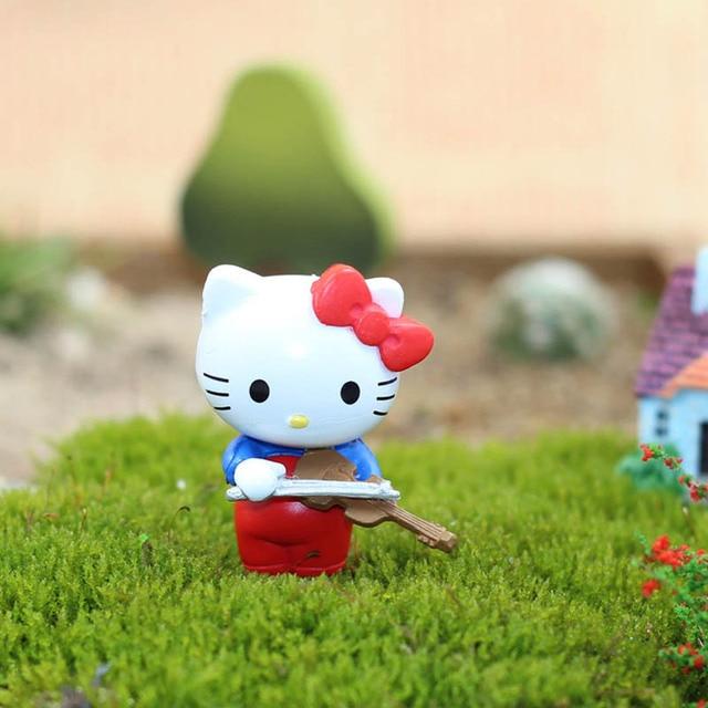 Mini Hello Kitty 6 pièces/ensemble PVC arbre jardinage décoration Micro paysage plantes pendentif Micro vue 3.5*2.5 cm dans le monde entier gratuit