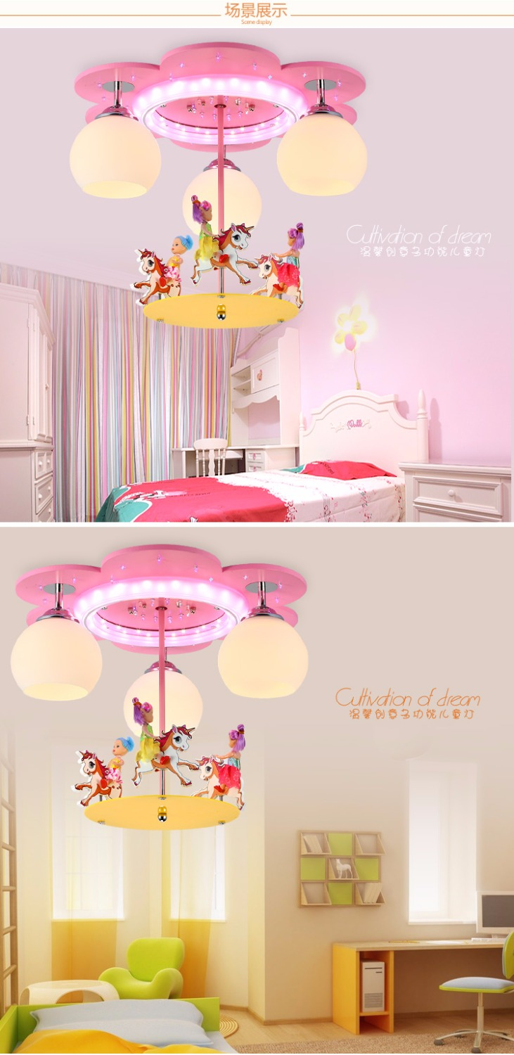 Kids bedroom ceiling lights - Aliexpress Com Buy Modern Cartoon Ceiling Light Kids Bedroom Bulb Light Fittings Led Lamp For Children Room Lighting Merry Go Round Kids Lamp Cm043 From