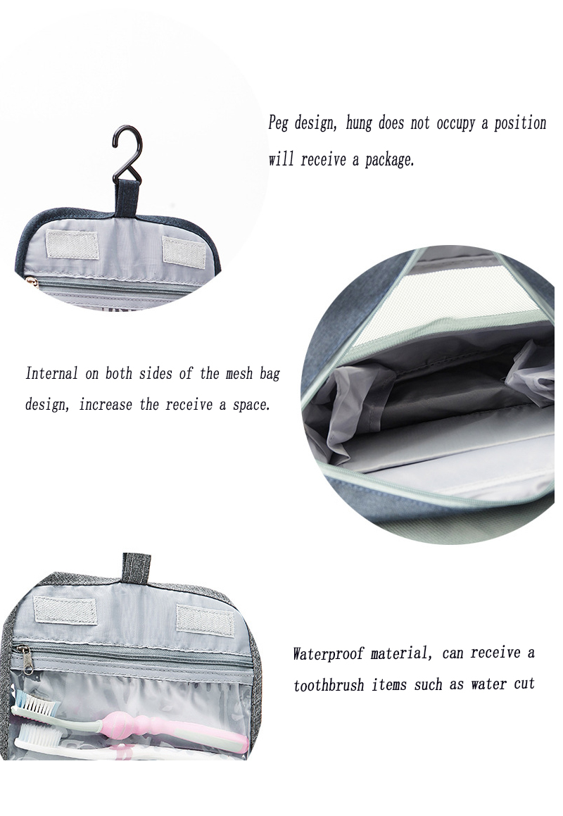 RDGGUH Portable Cosmetics Bag Hanging Cosmetic Bag Organizer For The ... fafc2820d582a
