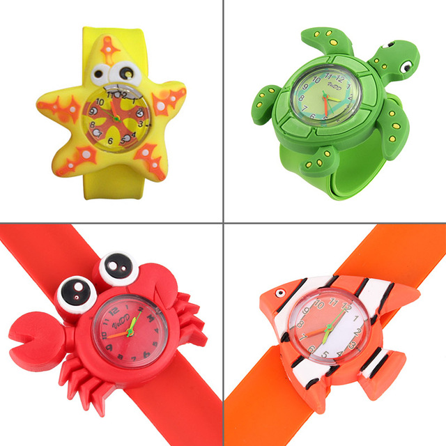 New Cute Animal Cartoon Silicone Band Bracelet Wristband Watch For Babies Kids L