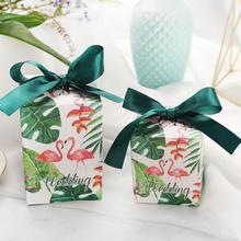 30pcs/lot Square Flower Color Printed Gift Box Weddiing Chocolate Candy Christmas Packing Party Decoration