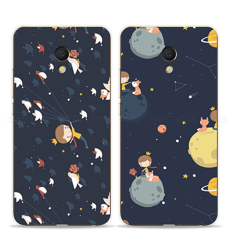 Le Petit Prince cartoon lovely plastic silicon soft phone cover case for meizu m6 note /m6