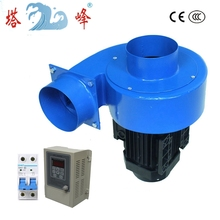 250w 100mm diameter round pipe small industrial air ventilation fan blower with VFD stepless controlloer