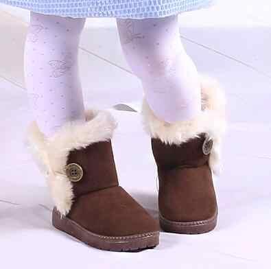 ילדים חמים מגפי שלג לילדים חדש פעוט חורף נסיכת ילד נעלי החלקה שטוח עגול הבוהן בנות תינוק יפה מגפיים