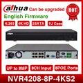 Стандартная доставка Dahua NVR4208-8P-4kS2 8CH NVR 8MP 1U 8PoE 4K & H.265 Lite сетевой видеорегистратор 2SATA с логотипом
