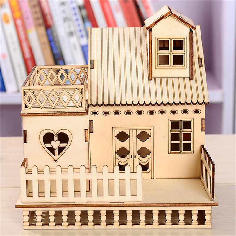 Aliexpress buy cube led house wooden craft home