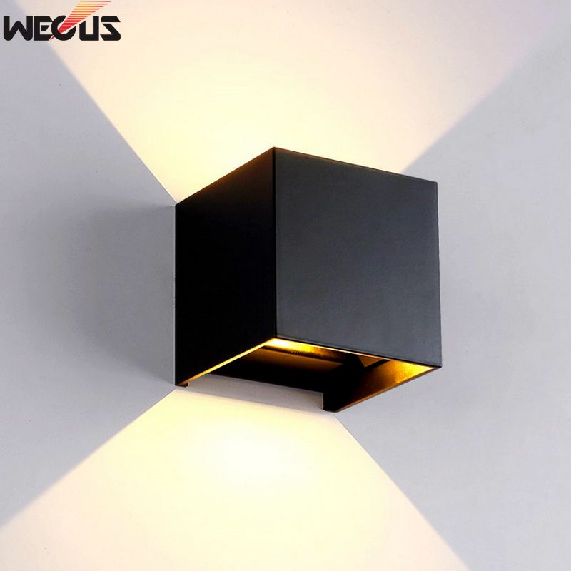 LED Wall Light Outdoor Waterproof IP65 Modern Nordic Style Indoor Wall Lamps Living Room Porch Garden Lamp AC90-260V 6W