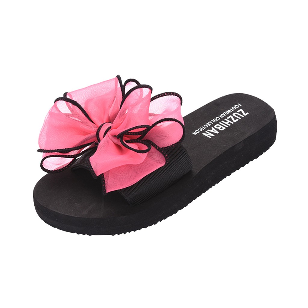 Women Summer Bow Flat-Bottomed Slip-On Wear Thick-Soled Beach Slippers fashion Thick-Soled Wear-Resistant Slipper travel Apr 24Women Summer Bow Flat-Bottomed Slip-On Wear Thick-Soled Beach Slippers fashion Thick-Soled Wear-Resistant Slipper travel Apr 24