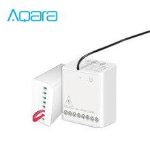 ใหม่ Aqara 2 Way โมดูลควบคุมคู่ช่อง AC มอเตอร์คอนโทรลเลอร์ไร้สายสำหรับ Smart Home