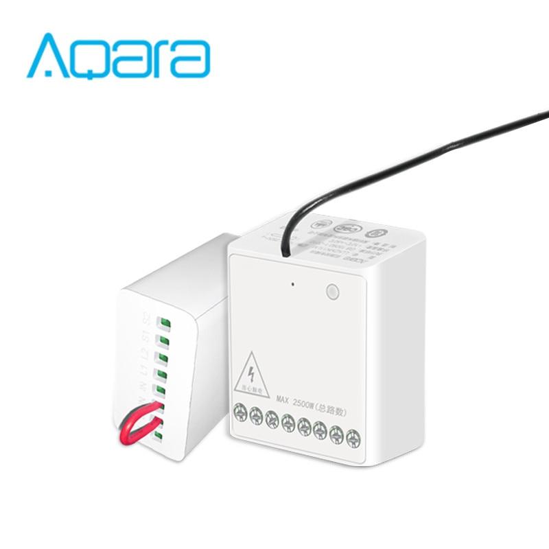 Novo xiaomi mijia aqara two-way módulo de controle duplo canais ac motor controlador sem fio para xiaomi casa inteligente