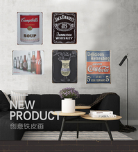Beers coffee drinks vintage tin Signs Bar Pub Home Wall Decor Retro Metal Art Poster Metal Plate Plaques decor art painting popular romance english poetry retro metal tin signs wall painting poster for bar coffee store hotel home decor 20 30cm