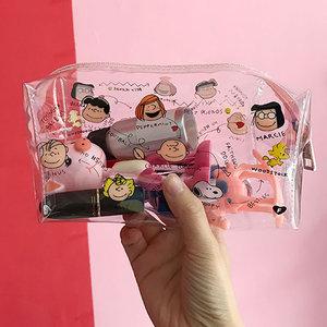 Cute Cartoon Girl Makeup Bag Transparent