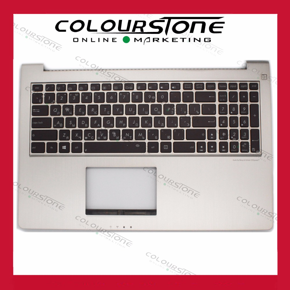 New RUSSIA Laptop Keyboard for ASUS Zenbook UX51 UX51VZ  RU  Layout Backlit with Palmrest Cover Bezel Russian new laptop keyboard for samsung np700z5a 700z5a np700z5b 700z5b np700z5c 700z5c ru russian layout
