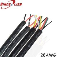 UL2464 28 AWG 2 3 4 5 7 8 9 основной кабель для USB мыши клавиатуры провода 10 м DIY ПВХ кабель мягкая оболочка линии управления провода Бесплатная доставк...