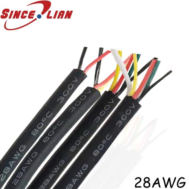 UL2464 28 AWG 2 3 4 5 жильный кабель для USB Мышь клавиатура данных 10 метров поделки ПВХ кабель мягкая оболочка линии Управление вина Бесплатная доставка