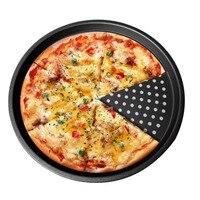 Углеродистая сталь антипригарной противень для пиццы Лоток 32 см блюдо для пиццы миски Детские Держатель формы для выпечки дома кухонные пр...