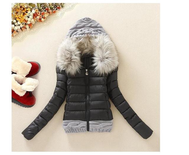Grande casaco de pele casaco senhora algodão pluma venda quente de inverno casaco de lã feminino outerwear