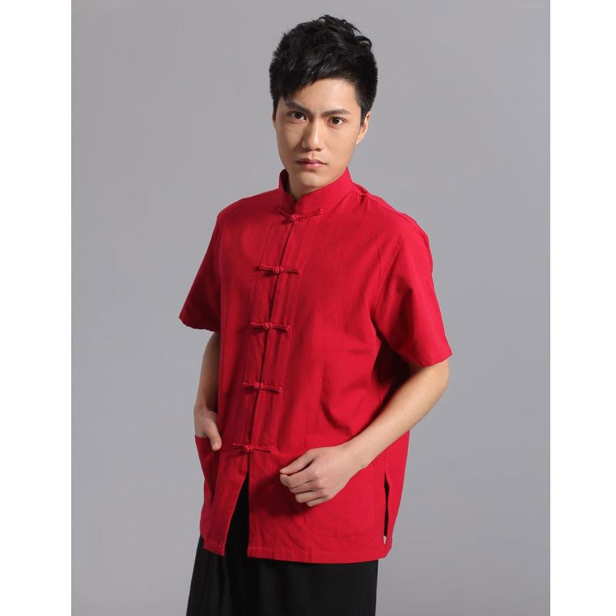 Umorden majica kratkih rukava Pamuk Tang Top Men Kung Fu Tai Chi - Nacionalna odjeća - Foto 3