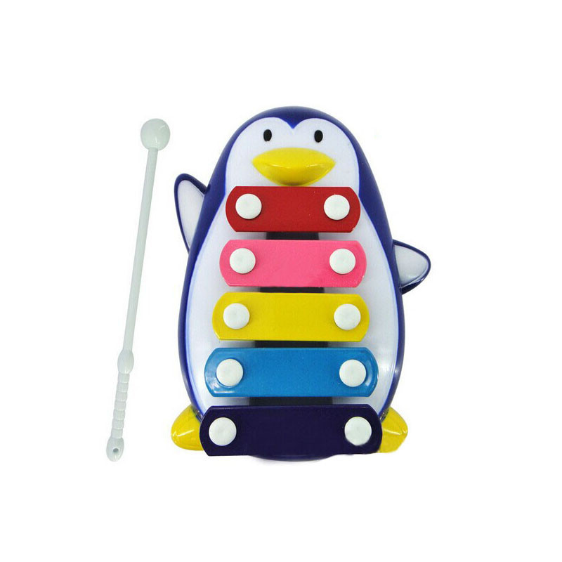 Hot!!!Baby Kid 5-Note Xylophone Musical Toys Wisdom Development Penguin Drop Ship