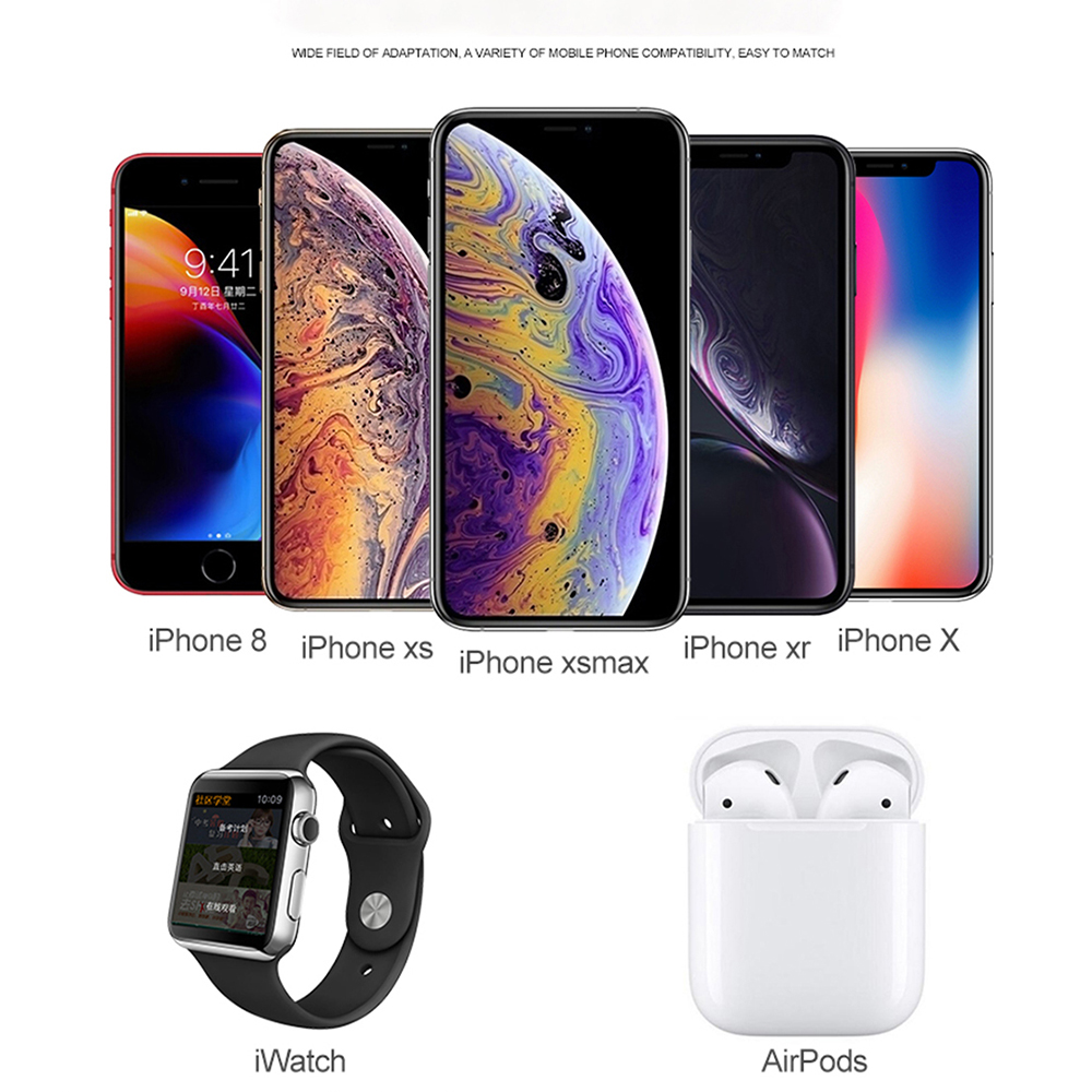 Image 4 - 4 In1 Wireless Charger Led Desk Lamp Luminaria Multifunction Led Table Lamp 5W Touch Table Lamp for IPhone Airpods-in Desk Lamps from Lights & Lighting