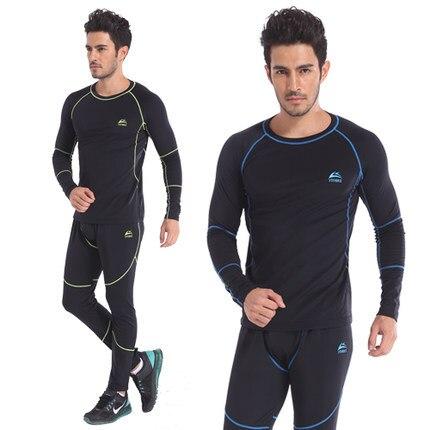 9294315468 Top quality new roupa interior térmica conjuntos de roupa interior dos  homens de compressão quente velo thermo cueca homens roupas de secagem  rápida do suor ...
