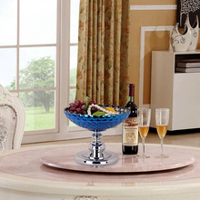 Multipurpose Glass Compote Model Home Furnishing Fruit Plate Decoration Accessories home weding gift accessories