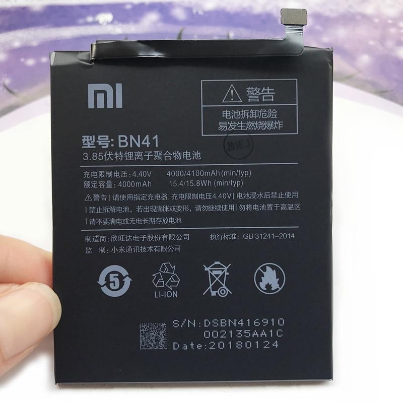 POUR Xiaomi Redmi Note 4 Hongmi Note4 BN41 Batterie Rechargeable Li-ion Intégré Dans le Téléphone portable Au Lithium Polymère Batterie 4000 mah