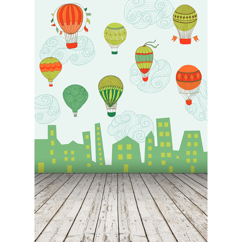 Vinyl photography background Hot air balloon Computer Printed children Photography backdrops for Photo studio 5X8ft  2730 vinyl photography background bokeh computer printed children photography backdrops for photo studio 5x7ft 888