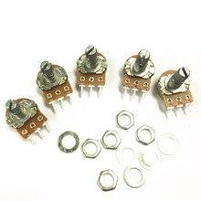 100 unids/lote potenciómetro de una sola articulación tipo B WH148 B1M 1 M potenciómetro giratorio cónico eje 15mm (encuentro de los tornillos)