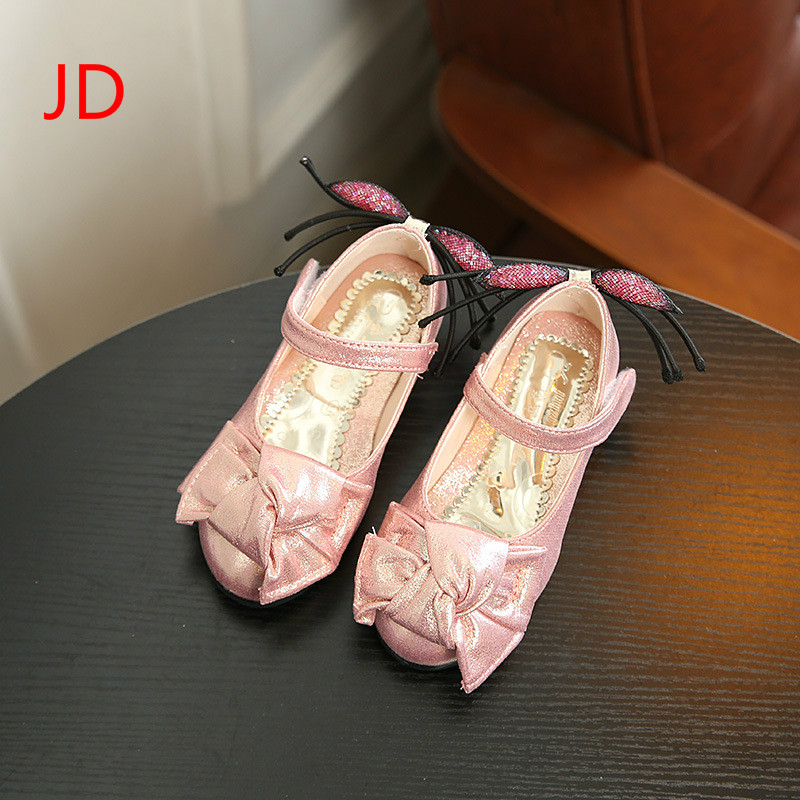 Fall, New Girl Leather Shoes, Bow Tie, Girls Casual Shoes, Childrens Dance Shoes