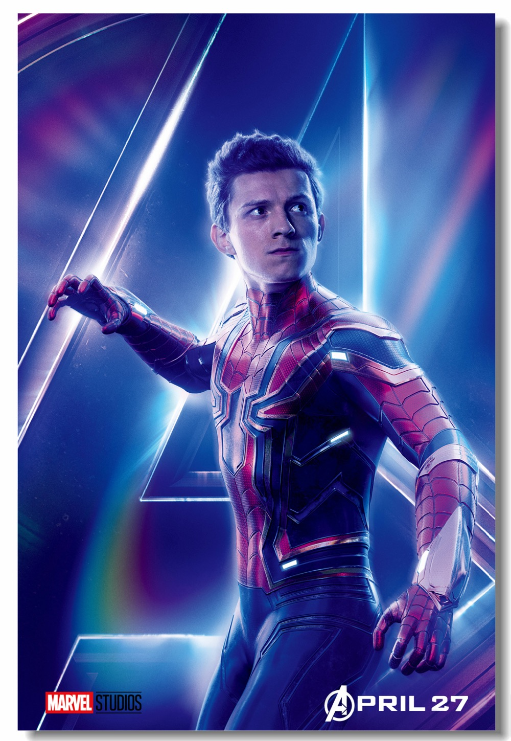 Us 5 99 25 Off Custom Canvas Wall Painting Tom Holland Poster Iron Spider Man Stickers Avengers Infinity War Wallpaper Living Room Mural 0842 In