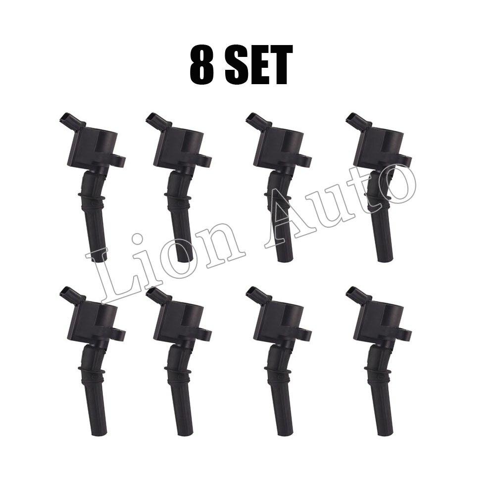 Lot de 8 bobines d'allumage pour bobine Ford sur fiche F7TZ-12029-AB/LL2U-12029-AA/F7TZ-12A366-BA/F7TZ-12029-BA