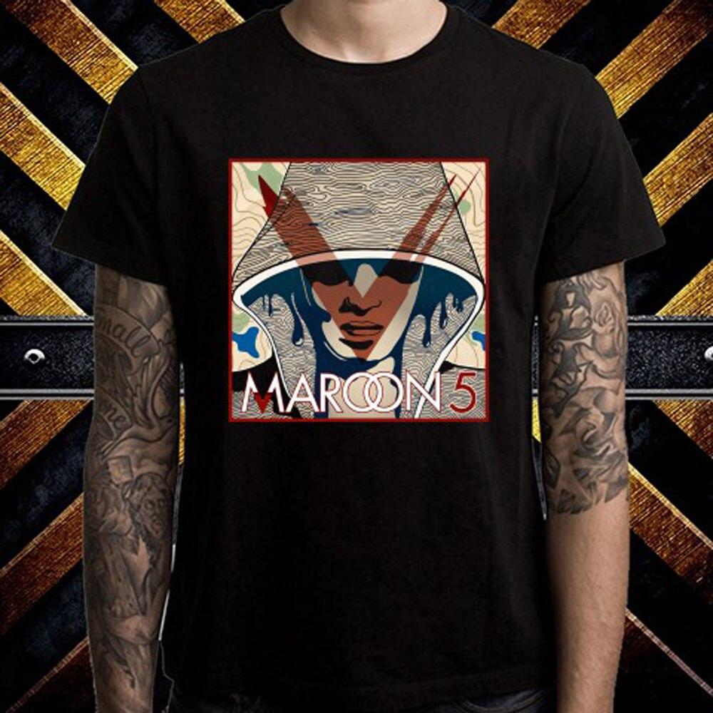 New Maroon 5 Pop Rock Band Logo Mens Black T-Shirt Size S to 3XL